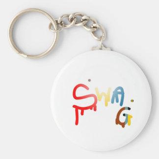 Swag Cap Basic Round Button Key Ring