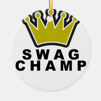 SWAG CHAMP T-Shirts png Christmas Tree Ornaments