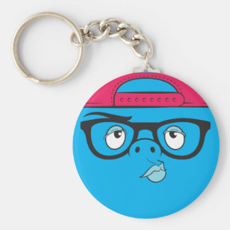 swag face basic round button key ring