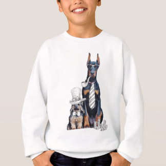 Swag Funny Party Dog Style Glasses Sweatshirt