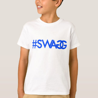 Swag Hashtag (Blue) T-Shirt