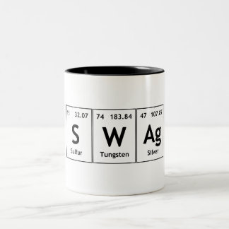 SWAg Periodic Table Element Word Chemistry Symbol Two-Tone Coffee Mug