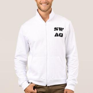 Swag Print Fleece Jacket Jacket