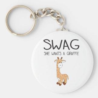 SWAG She Wants A Giraffe Key Chain