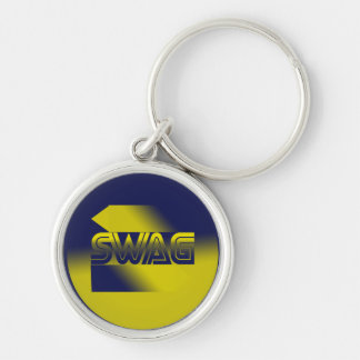 Swag Silver-Colored Round Key Ring