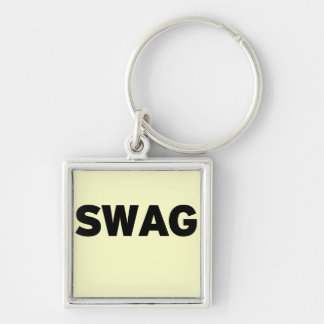 Swag Silver-Colored Square Key Ring