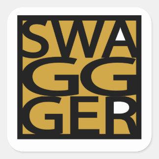 Swag, Swagger, GG Square Sticker