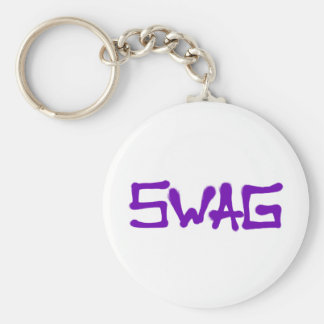Swag Tag - Purple Basic Round Button Key Ring