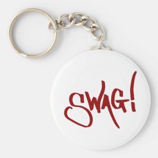 Swag Tag - Red Basic Round Button Key Ring