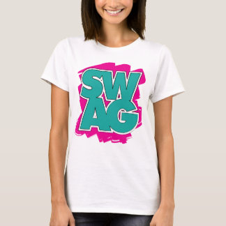 SWAG - Teal & Pink T-Shirt