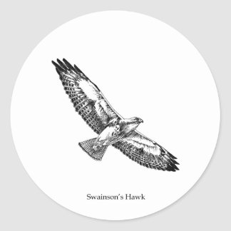 Swainson's Hawk Logo (titled) Classic Round Sticker