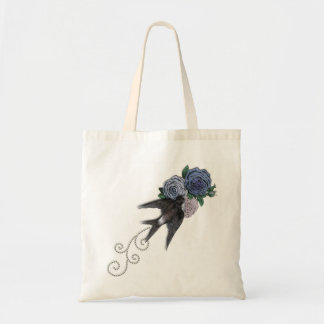 Swallow and Flowers Budget Tote Bag
