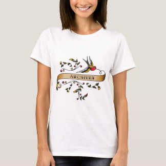 Swallow and Scroll with Archives T-Shirt