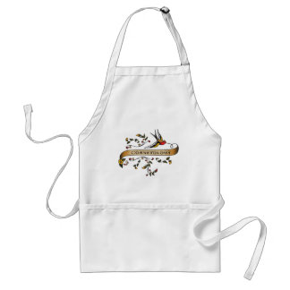 Swallow and Scroll with Cosmetology Aprons