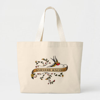 Swallow and Scroll with Harness Racing Large Tote Bag