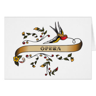 Swallow and Scroll with Opera Greeting Card