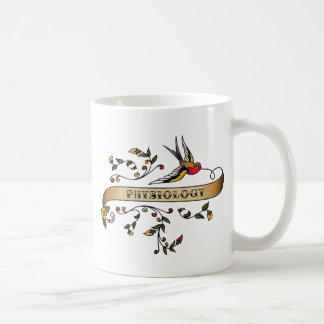 Swallow and Scroll with Physiology Coffee Mug