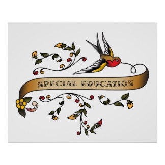 Swallow and Scroll with Special Education Posters
