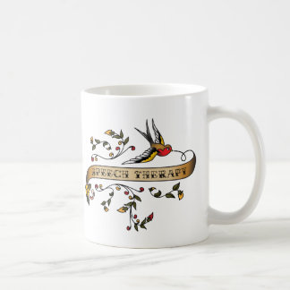 Swallow and Scroll with Speech Therapy Coffee Mug