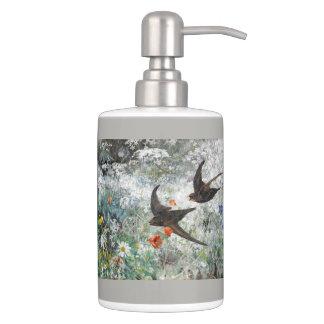 Swallow Birds Wildlife Animal Wildflowers Bath Set