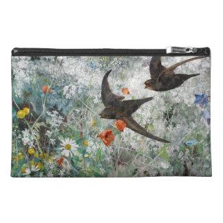 Swallow Birds Wildlife Flowers Travel Bag