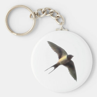 Swallow Clear Basic Round Button Key Ring