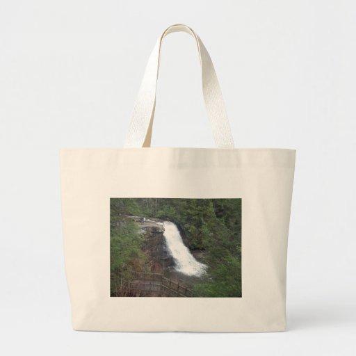 swallow falls tote bags