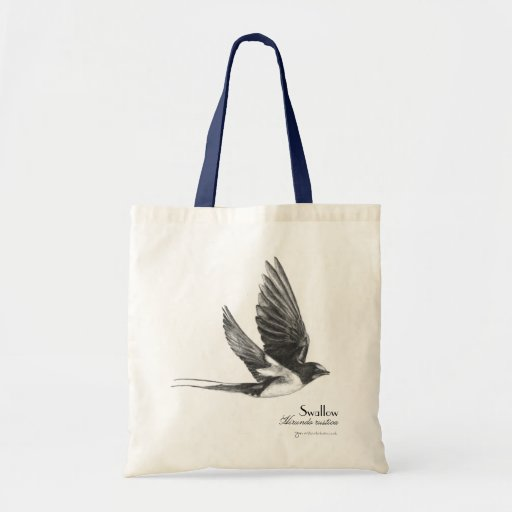 Swallow in flight canvas bags