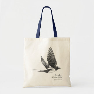Swallow in flight budget tote bag