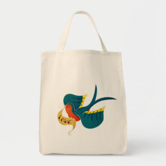 Swallow in Love Grocery Tote Bag