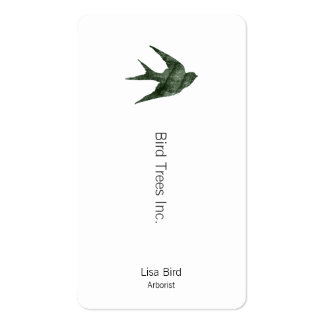 Swallow (Letterpress Style) Business Card Templates