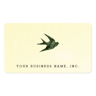 Swallow (Letterpress Style) Business Card Template