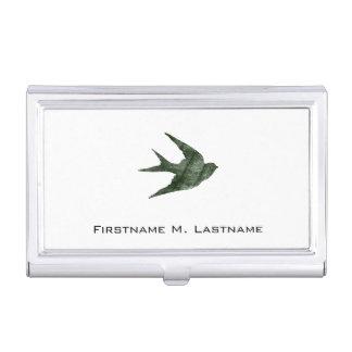 Swallow (Letterpress Style) Business Card Case