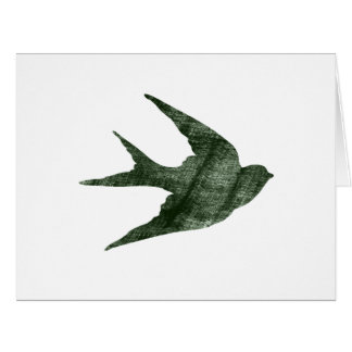 Swallow (Letterpress Style) Large Greeting Card