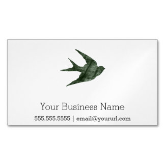 Swallow (Letterpress Style) Magnetic Business Cards (Pack Of 25)