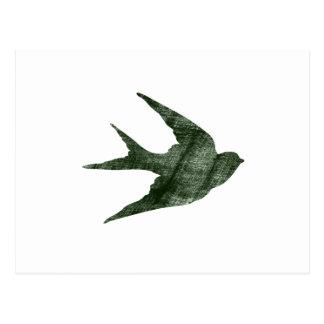 Swallow (Letterpress Style) Postcard