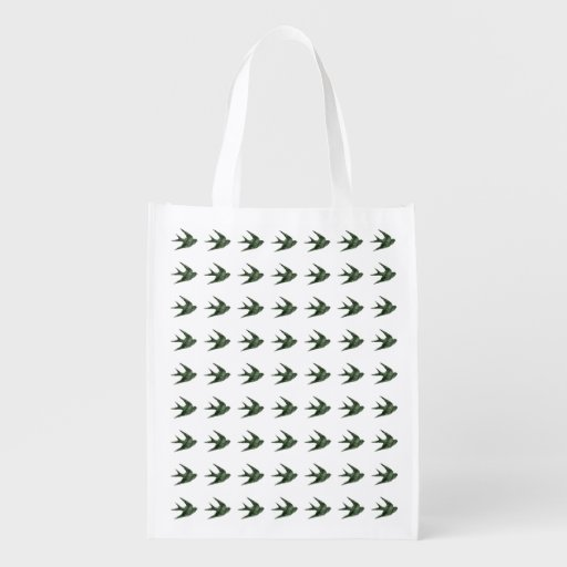 Swallow (Letterpress Style) Reusable Grocery Bag
