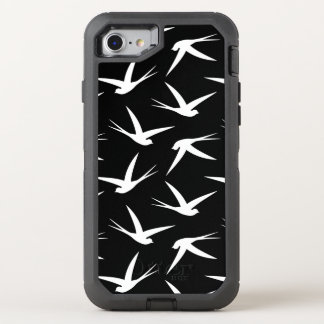 Swallow Pattern Elegant Black and White OtterBox Defender iPhone 7 Case