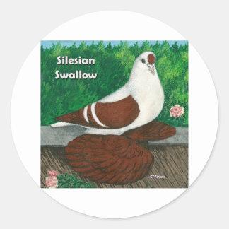 Swallow Pigeon:  Silesian Round Sticker