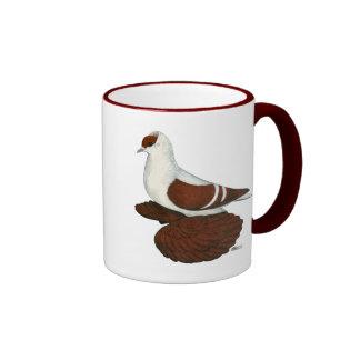 Swallow:  Red Fullhead Coffee Mugs