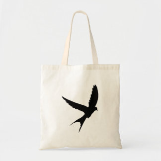 Swallow Silhouette Budget Tote Bag