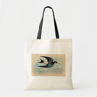 Swallow Valentine Tote Bags