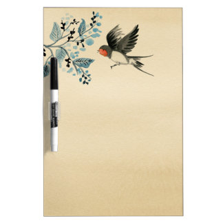 Swallow vintage picture dry erase board