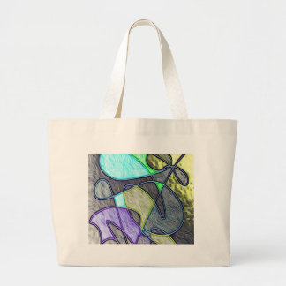 swallowed colorful tote bag