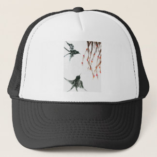 Swallows and berries trucker hat