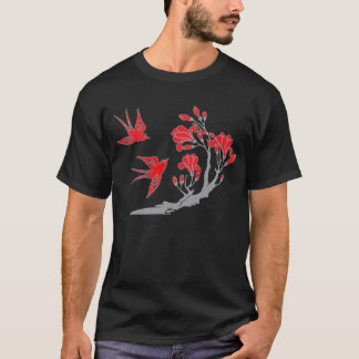 Swallows and Flowers T-shirt