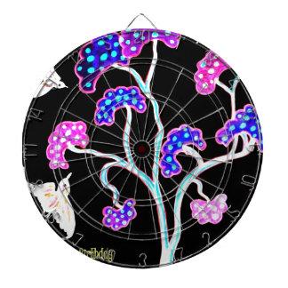 Swallows-and-fruit-tree-Happy-Birthday Dartboard