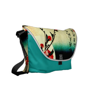 Swallows and Peach Blossoms Under the Full Moon 18 Courier Bag