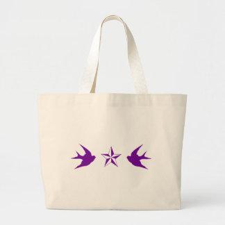 Swallows and Stars Jumbo Tote Bag