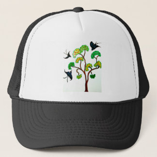 Swallows and the apple tree trucker hat